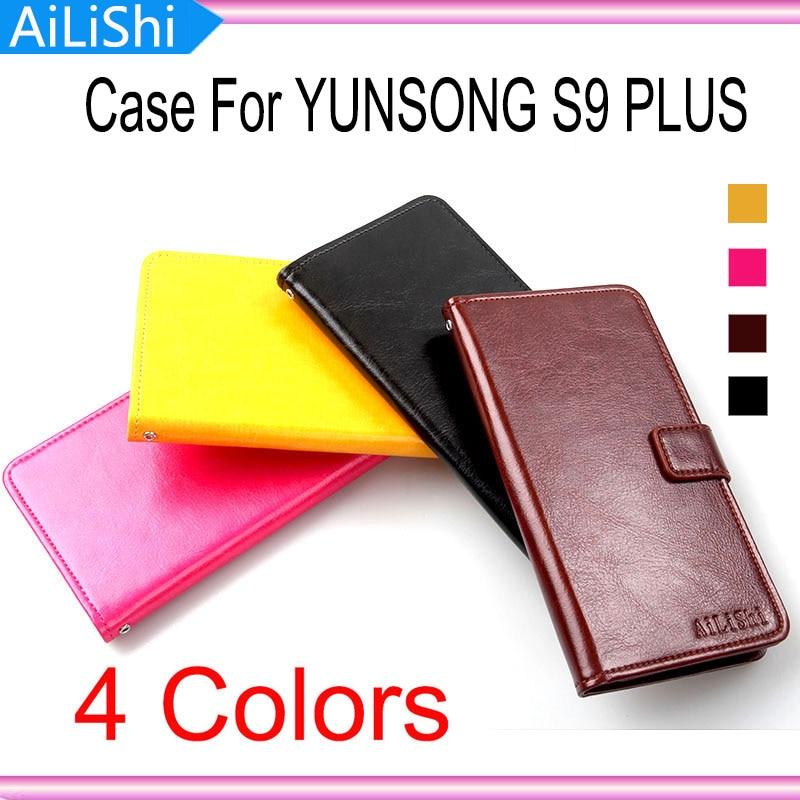 Funda de cuero AiLiShi para YUNSONG S9 PLUS funda de moda funda de teléfono con tapa cartera con ranura para tarjetas número de seguimiento