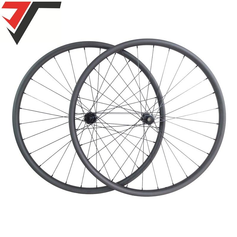 Viajes 29er ruedas de carbono 27mm de ancho asimétrica XC carbón mtb ruedas 350 tira recta centros de bicicleta de montaña ruedas de carbono 28 agujeros