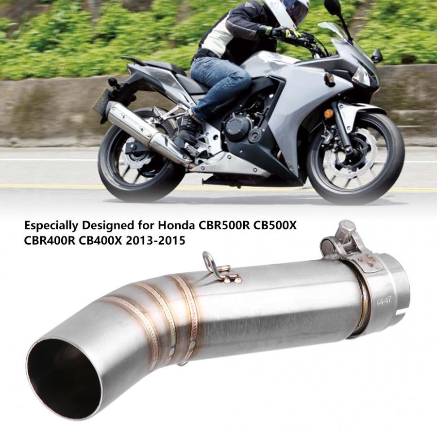 Escape de la motocicleta medio tubo de enlace de conexión para Honda CBR500R CB500X CBR400R CB400X