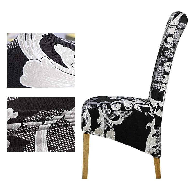 Funda de silla con estampado de flores de tamaño trasero largo, fundas de silla con patrón a cuadros, fundas de asiento, fundas para Hotel, fiestas, banquetes, decoración de chaise