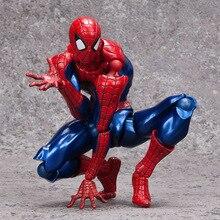Superheroes Avengers Marvels Amazing Spiderman Revoltech Spider Man PVC Action Figure Kids Toys Brinquedos 16cm
