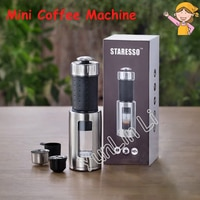 Portable Mini Coffee Machine Manual Italian Ice Drop Milk Foam Machine Multi-Functional Espresso Coffee Maker 80ml Capacity