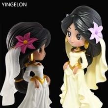 Anime figures Aladdin Jasmine Princess Toy Doll Anime Peripheral Model Hand Cake Decoration Decoration for children gifts