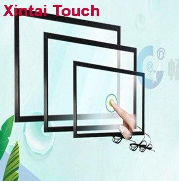 Xintai Touch-شاشة لمس USB بالأشعة تحت الحمراء مقاس 86 بوصة ، 10 نقاط ، توصيل وتشغيل سريع ، بدون زجاج/16:9