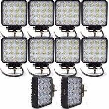 Lampe Epistar pour tout-terrain 24V 4WD   10 pièces, lampe de conduite pour conduite au travail, lampe de travail 48W