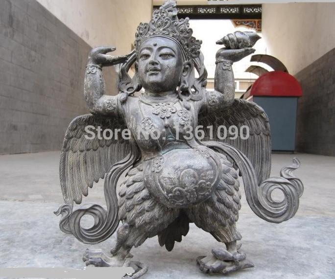 xd 00806 Tibet Folk Fane 100% pure bronze Tantrism Garuda Bird VaJra Buddha Statue