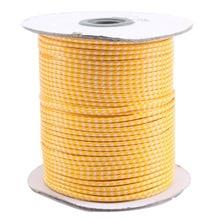 2mm Orange + blanc corée Polyester ciré cire cordon fil + résultats de bijoux accessoires Bracelet collier fil Rope100yards