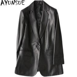 AYUNSUE Frauen Casual Echtem Leder Jacke 2019 Frühjahr Neue Echte Schaffell Mantel Weibliche Dünne Damen Jacken Oberbekleidung YY1089A