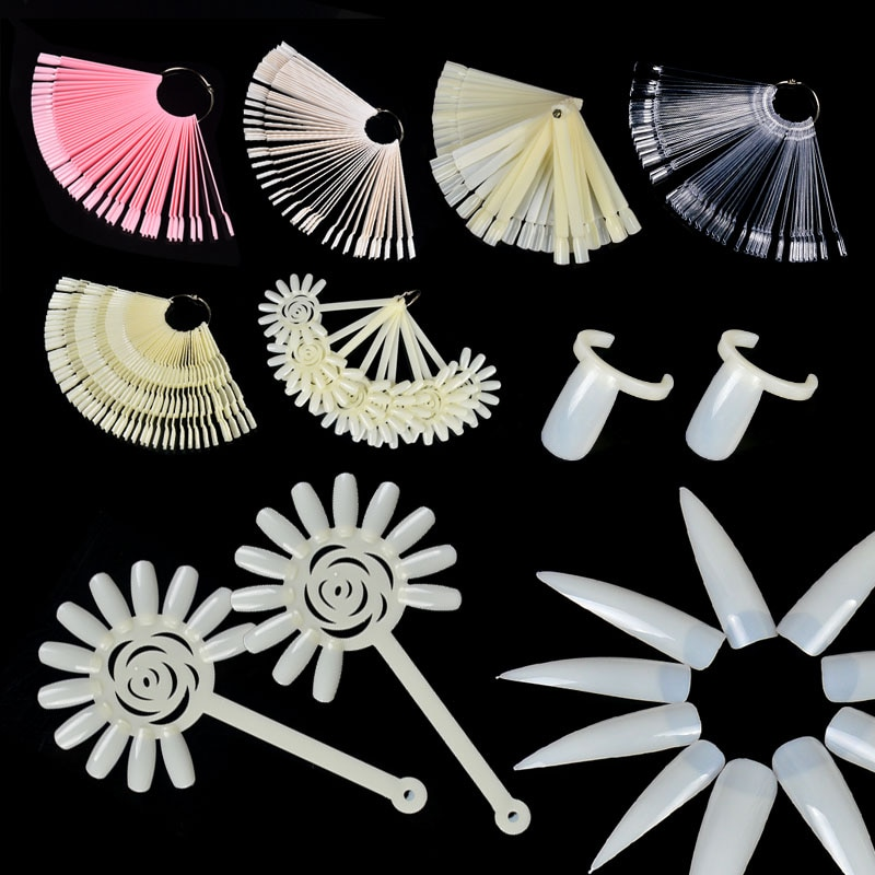 Ноготь LCJ арт веер в форме гель-лака, раскраска, демонстрационная полка, складная доска для карт, набор, тренировка, демонстрационная палитра
