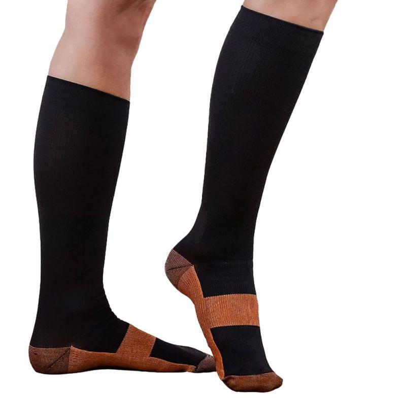 Calcetines de compresión Unisex EFINNY para mujer, calcetines suaves antifatiga para aliviar el dolor hasta la rodilla