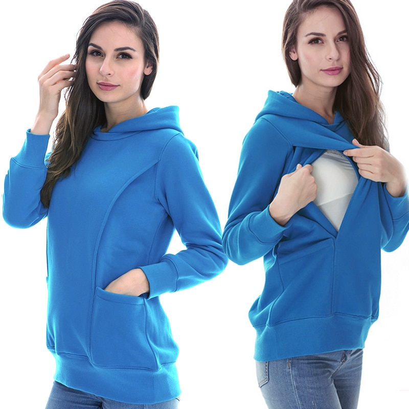 MamaLove Winter Maternity Tops Breastfeeding Clothes Tops Pregnancy Clothes For Pregnant Women Maternity Hoodie Sweater enlarge