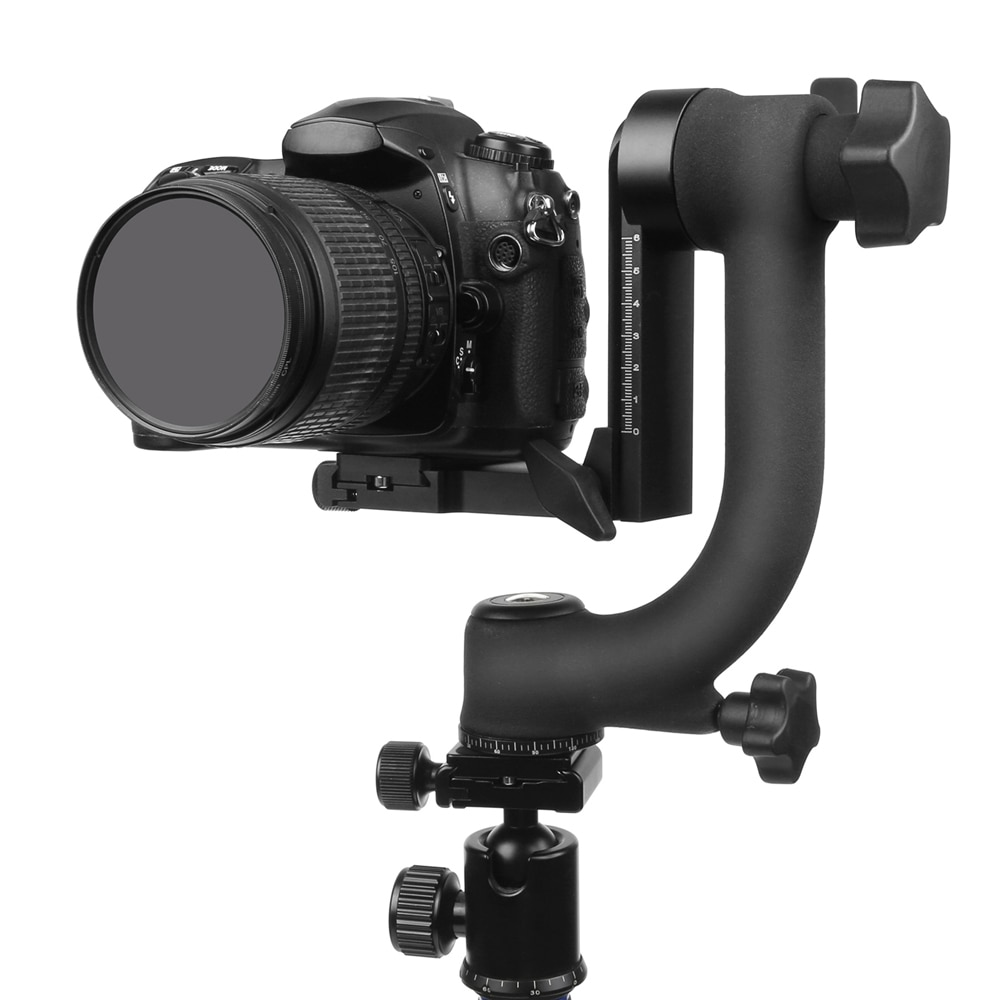 رأس ثلاثي القوائم احترافي بانورامي 360 درجة Pro Gimbal ، برغي 1/4 بوصة ، لكانون نيكون بنتاكس سوني DSLR ، كاميرا الفيديو