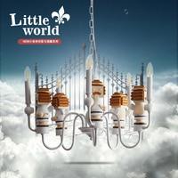 Qiseyuncai Small world Europe big parade two yuan children's room chandelier boy girl bedroom children lighting free shipping
