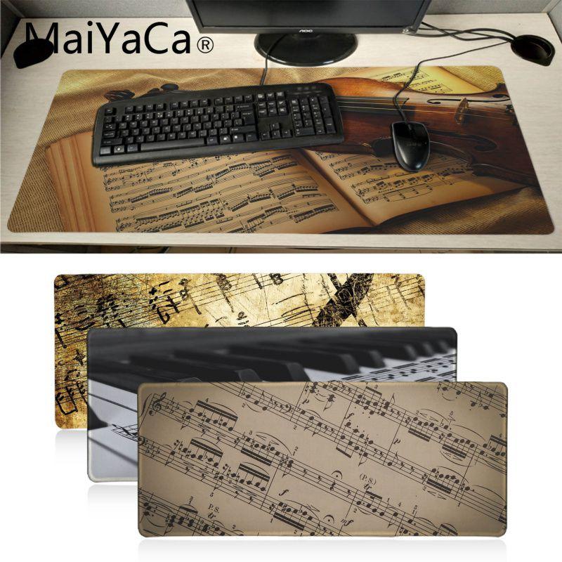 MaiYaCa, nuevos diseños, hoja de música antigua, teclado de violín, juegos alfombrillas para el ratón, alfombrilla grande para ratón, alfombrilla para teclado