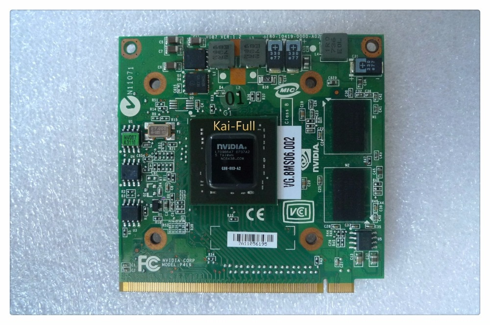 Para nVidia para GeForce 8400M G MXM IDDR2 128MB tarjeta de gráficos de Video para Acer Aspire 5920G 5520G 5520G 4520G 7520G 7520G 7720 G
