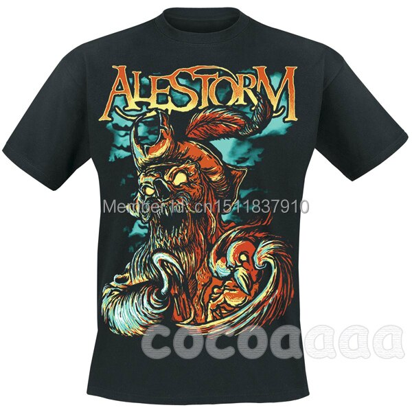 Harajuku Zombies pirate Alestorm Rock Brand men shirt 3D Harajuku camisetas mma fitness heavy Dark Metal 100%Cotton