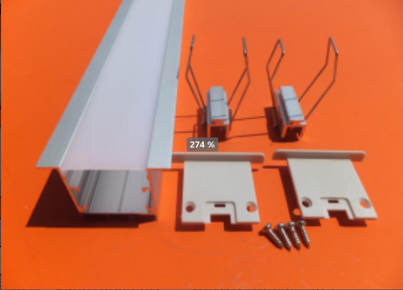 O Envio gratuito de new drywall led trimless recesso levou perfil de alumínio perfil de largura do canal de alumínio habitação com asas com tampa