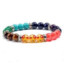 Prayer Reiki 7 Chakra Bracelets For Men Women Natural Stone Beads Strand Bracelet Bangles Healing Buddha Balance Yoga Jewelry