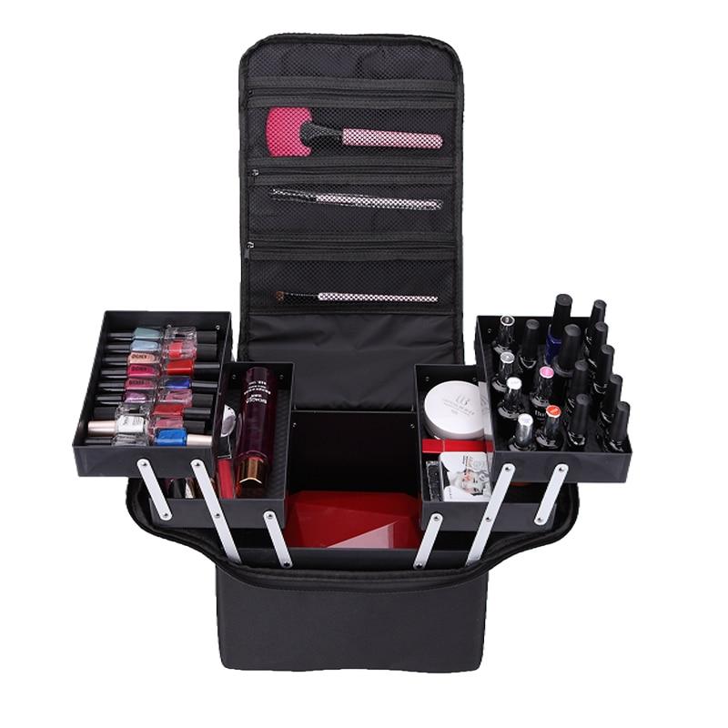 Профессиональные пакеты для макияжа ручная работа вместительный многослойный