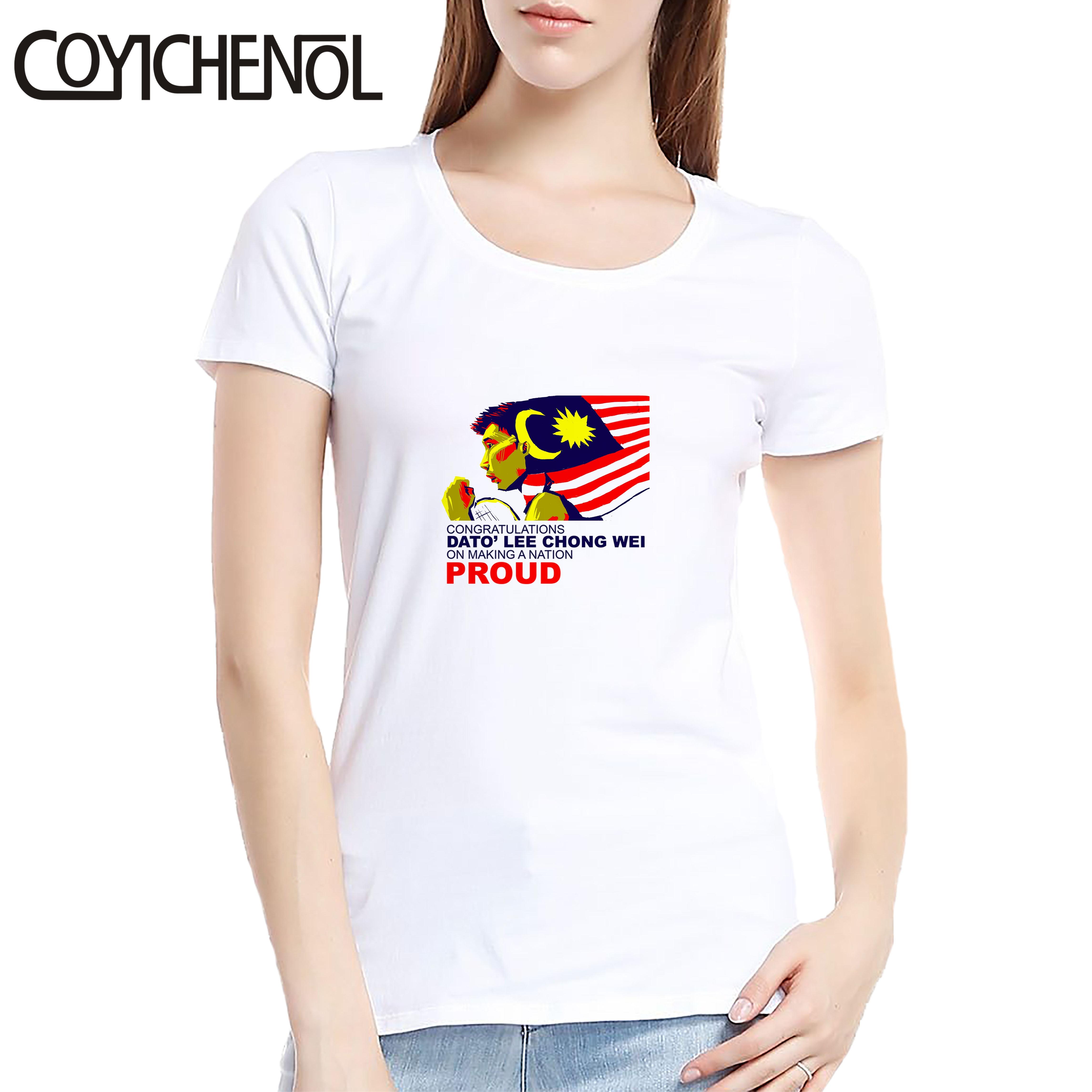 Camiseta de mujer lee chong Wei, camiseta de mujer, 6XL, diseño de color sólido, top modal, camiseta de verano de manga corta, COYICHENOL