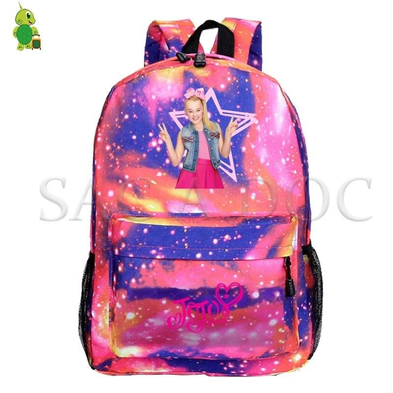 JoJo Siwa Galaxy Космический рюкзак для подростков, школьные сумки для женщин и мужчин, рюкзак для ноутбука, повседневный дорожный рюкзак, забавные детские сумки для книг