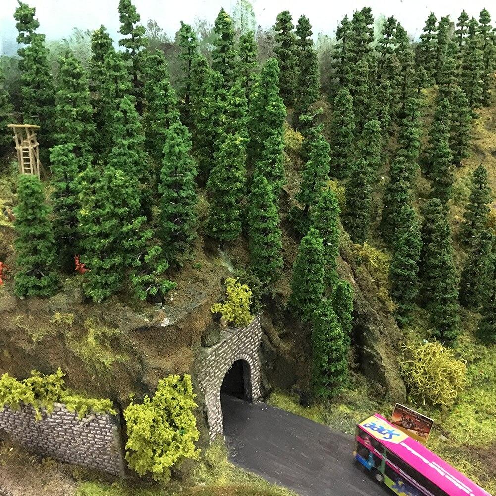 50 Uds. 1 150 modelo tren árboles N escala 50mm TC50 modelado ferroviario árbol modelo plástico kits de construcción