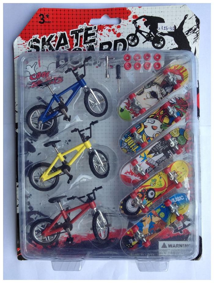 Fingerboard Finger skateboard and bike Toys for children gift Mini-Finger-Bmx bike/ Bicycle finger skate board scooter