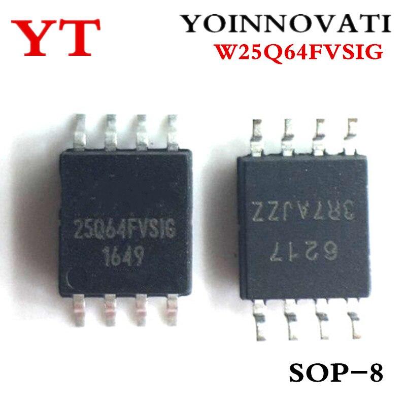 50 قطعة/الوحدة W25Q64FVSSIG W25Q64FVSIG W25Q64 25Q64FVSIG SOP-8 IC أفضل جودة.