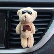 Outlet Vent Clip Air Freshener In Car Cute Bear Plush Doll Toys Decor Car Fragrance Auto Interior Aroma Diffuser Car Ornaments