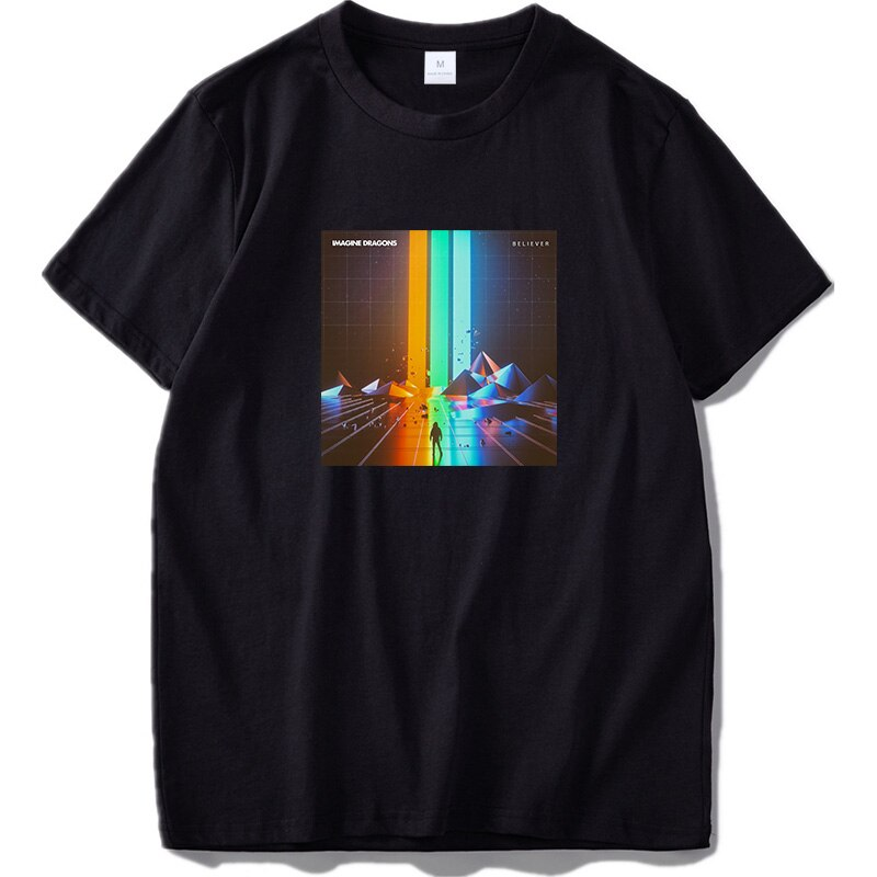 Camisetas de algodón de talla Europea 100%, camiseta de banda de Rock Believer Imagine Dragons, camisetas casuales transpirables de manga corta
