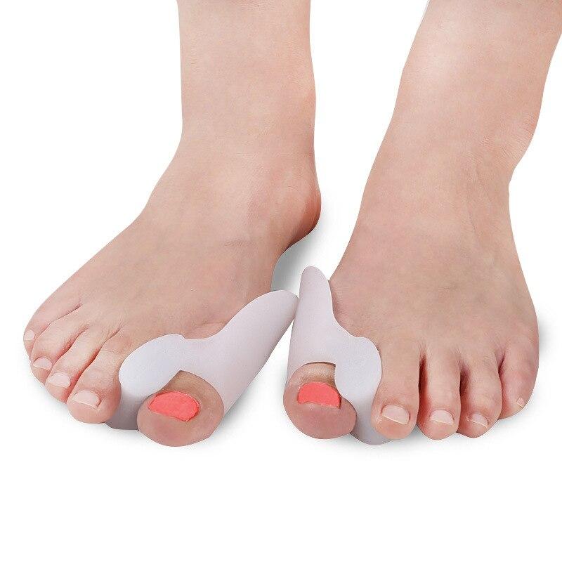 2 uds = 1 par de silicona Hallux Valgus suministros ortopédicos separadores de dedos gel de cuidado para pies juanetes corrector de pie herramientas de cuidado de pedicura