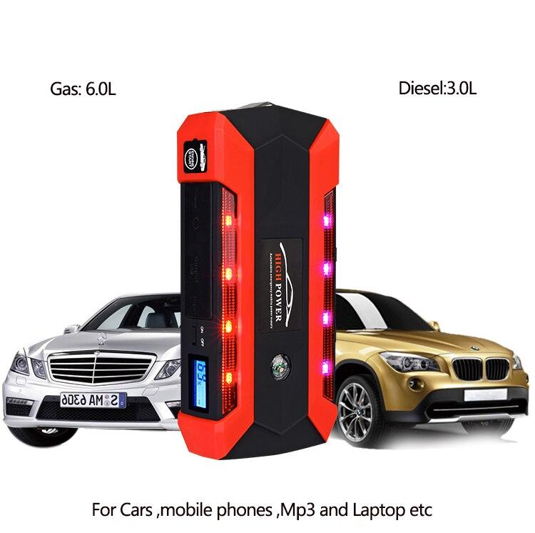 Arrancador de batería de coche multifunción de emergencia cargador de auto Banco de energía de batería Paquete de 12V 12V dispositivo de arranque impermeable 4USB