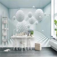 3d abstract space polygon ball tv background wall specializing in the production of high end mural wallpaper 3d photo wall