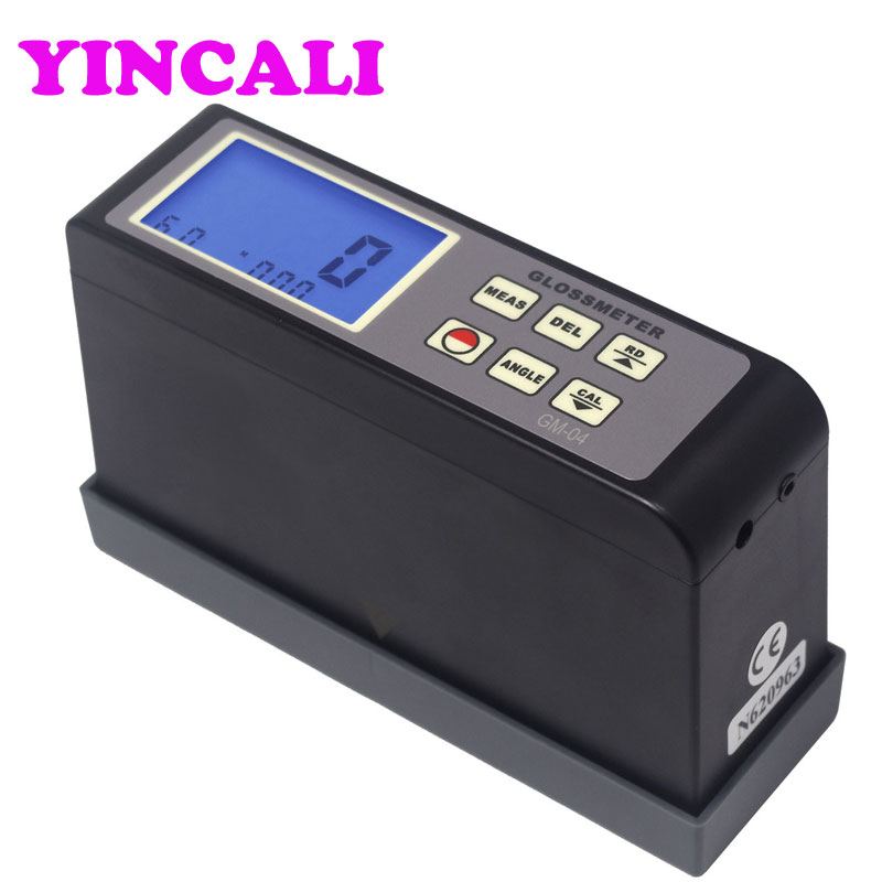 Medidor Digital de brillo (tipo Integral) GM-04 de calibración automática, medidor de brillo, pantalla LCD de 45 grados, rango de medición 0,1 ~ 200GU