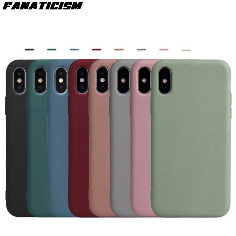 500 Uds. Fundas de teléfono mate de silicona suave ultrafina para iphone 11 Pro Max XR X XS Max 5s 6 7 8 Plus cubierta trasera de TPU suave colorida