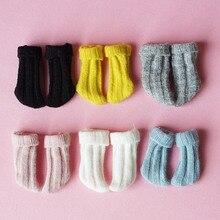 1 쌍 패션 1/6 인형 양말 ob11 obitsu 11 holala blyth 인형 짧은 양말 인형 신발 액세서리