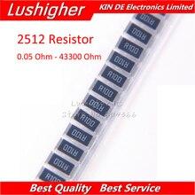 50PCS 2512 SMD Resistor 1W 1% 0.1R 0.1 0.05 49.9 1 22 0.5 12 4.7 10K 100 1.2K 39 240 3920 43200 Ohm 0.1ohm R100 R10 0.05R 49R9