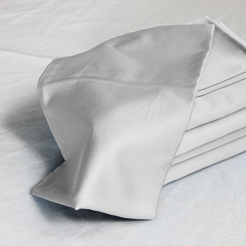 100% algodón egipcio 1000 TC blanco claro gris beige gris colores fundas de almohada 60x70 cm 4 piezas personalizadas