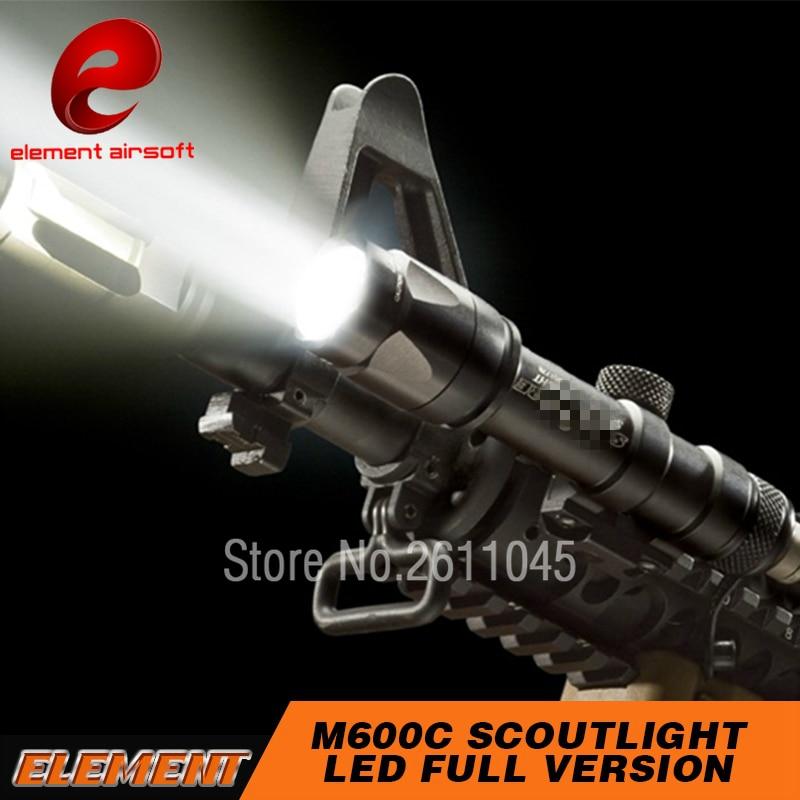 Linterna táctico Element Airsoft surafir M600, para caza, 366 lúmenes, M600C, pistola surafir, luz para arma, EX072