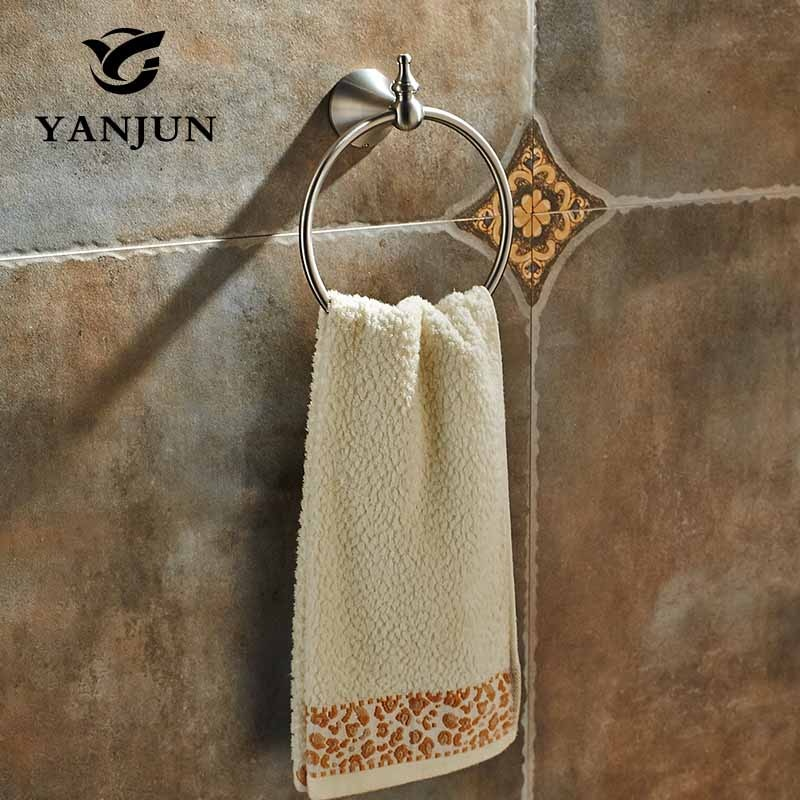 Toallero de pared de acero inoxidable cepillado Barra de toallas accesorios de baño Porta Toalha para el hogar YANJUN-7453