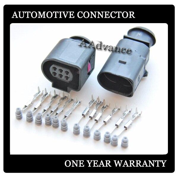 BOSH LSU 4,9, kits de conectores eléctricos macho y hembra de 6 vías 1J0973713 1J0973813 3B0973813