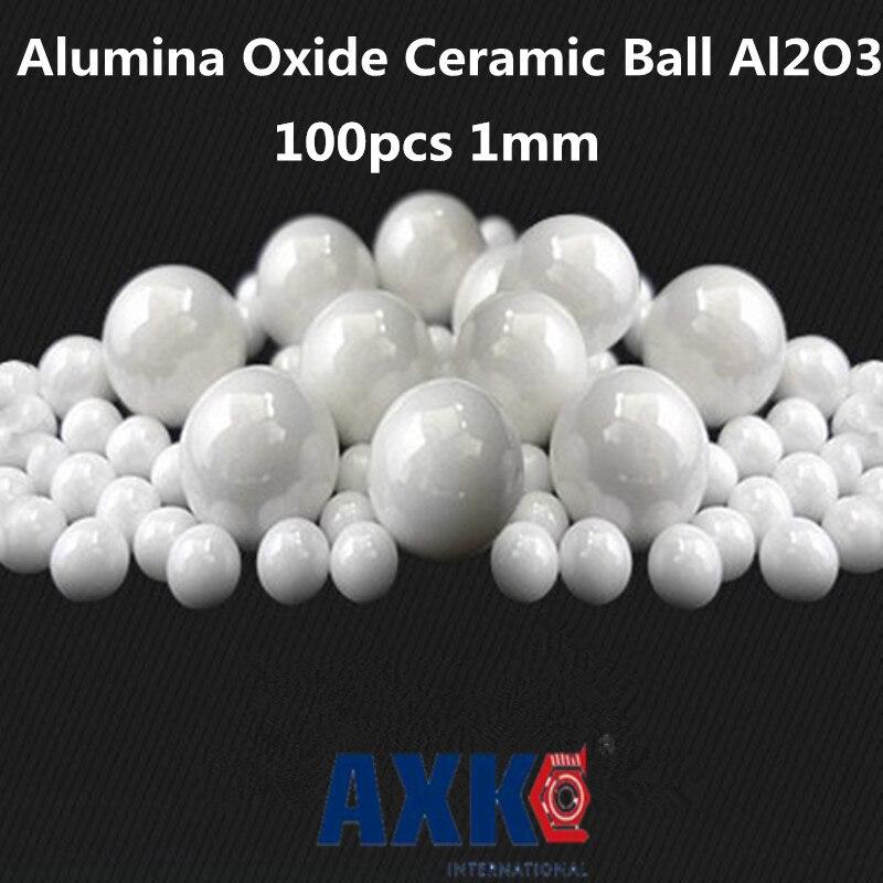2019 nueva llegada cojinete de empuje 100 piezas 1mm 1 Mm Óxido de alúmina de cerámica bola Al2o3 para cojinete/bomba /deslizador lineal/bolas de valvs