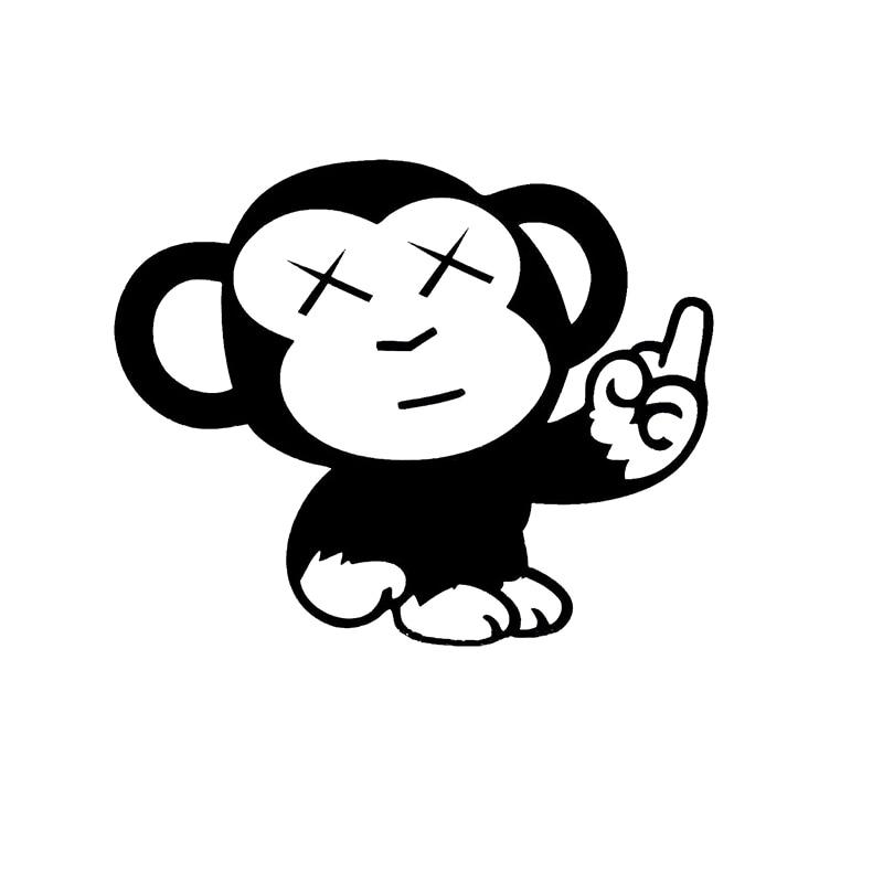 Le singe sur la voiture est le doigt du milieu Animal vinyle voiture emballage accessoires produit décalque