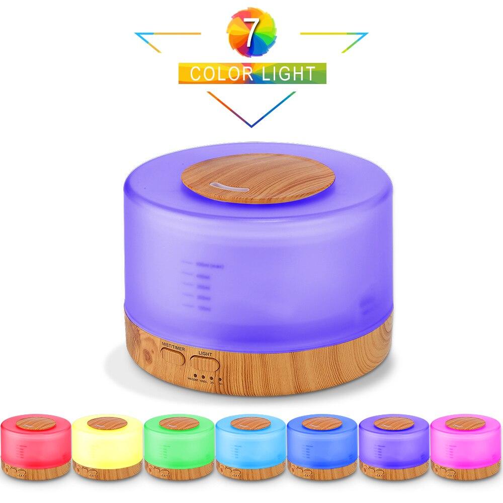 VVPEC Aroma difusor de aceite esencial música de Control remoto humidificador de aire ultrasónico con 7 luz de noche de color