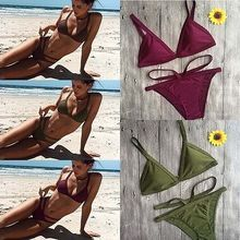 Hirigin 2017 New Women Bikini Set Bandage Push-Up Padded Bra Swimwear Belt Brazilian Swimwear Swimsuit Bathing Beachwear Outwear