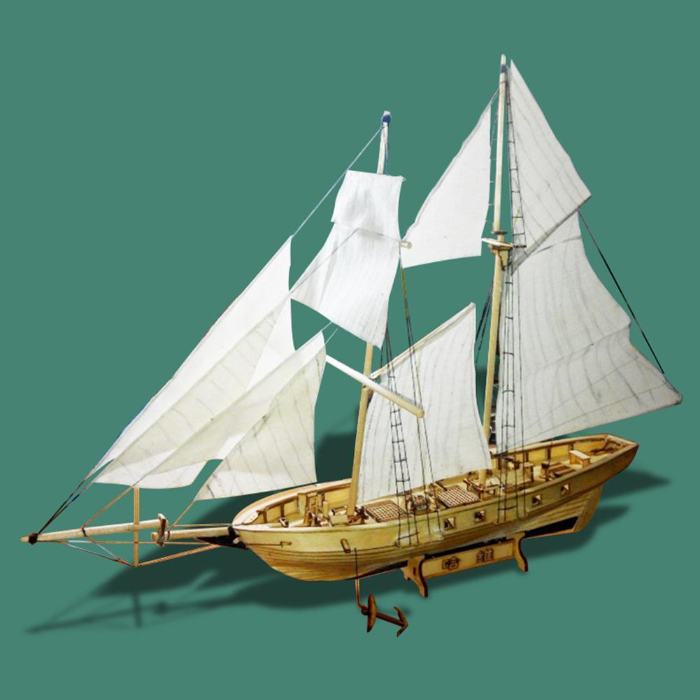 Kits de construcción de ensamblaje RCtown, modelo de barco, veleros de juguete de madera, modelo de vela, Kit de madera ensamblado DIY D30
