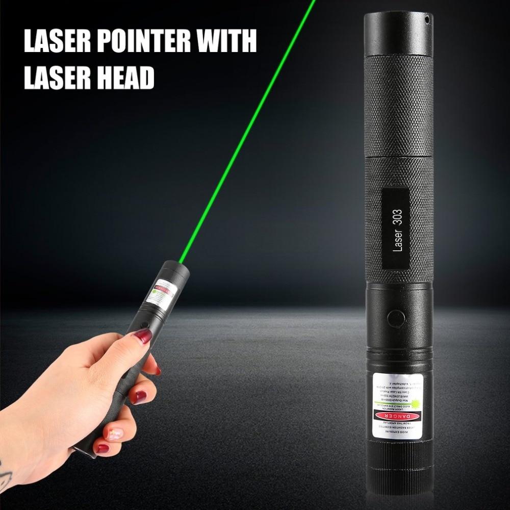 Poderoso laser sd 303 foco ajustável 532nm ponteiro laser verde potência de saída de luz menos de 1mw nenhum brinquedo do gato da bateria