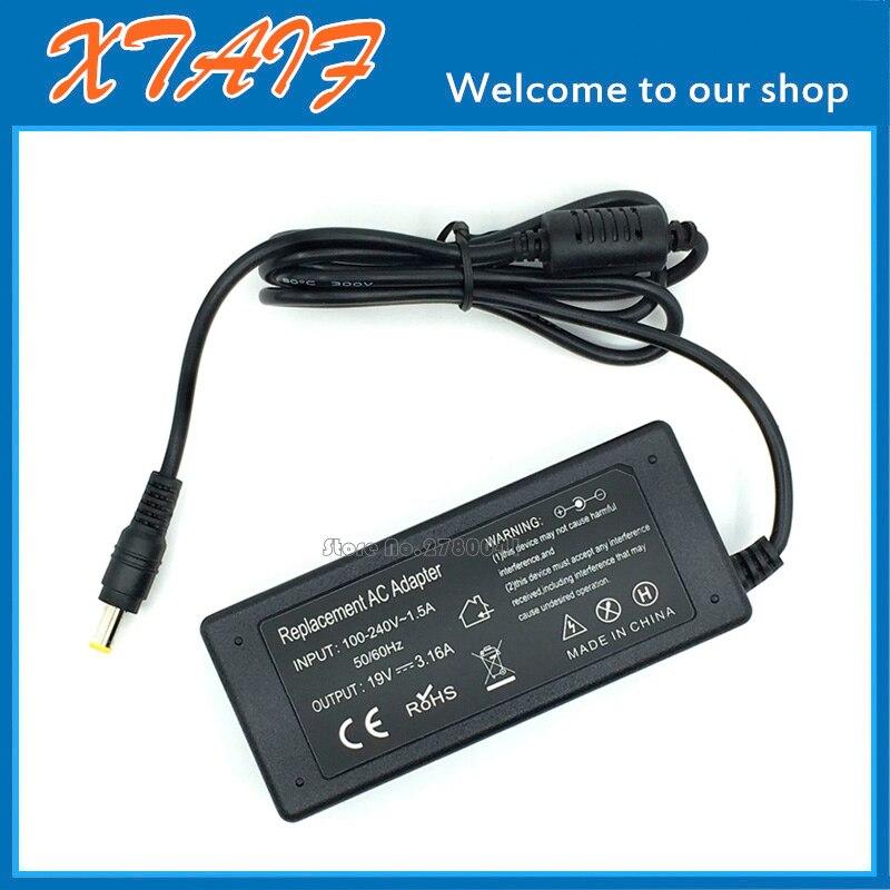 19 V 3.16A AC/DC Adaptador de Alimentação PARA Samsung Q468 Q230 Q208 Q210 QX310 Q310 Q320 Laptop Power carregador de Alimentação 5.0mm * 3.0mm