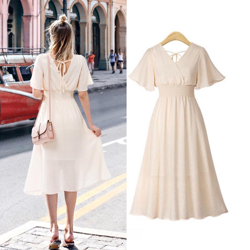 plus size dress white bandage elegant midi pink chiffon black office summer ruffle big vestiti donna v neck tallas grandes mujer