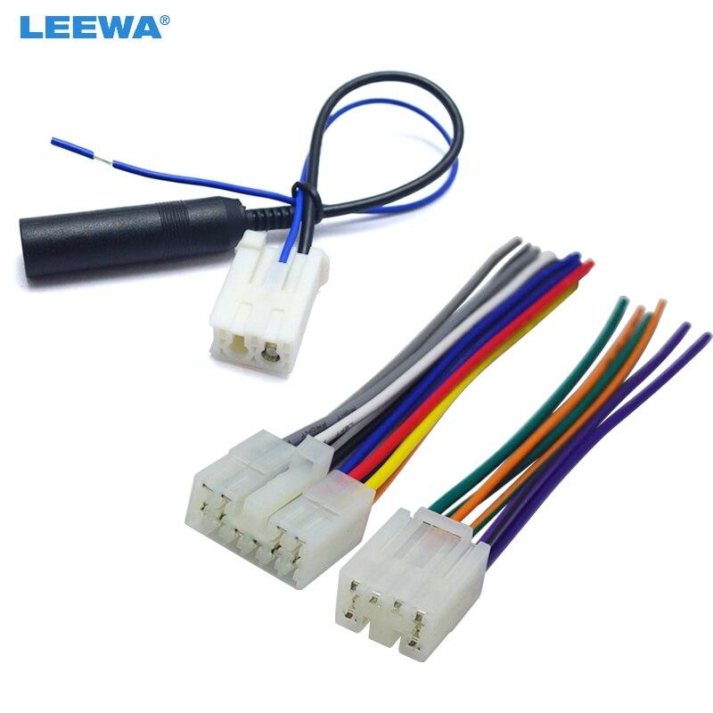 LEEWA автомобильный аудио стерео жгут проводов с антенной адаптер для Toyota/Scion завод OEM радио CD/DVD стерео # CA3186
